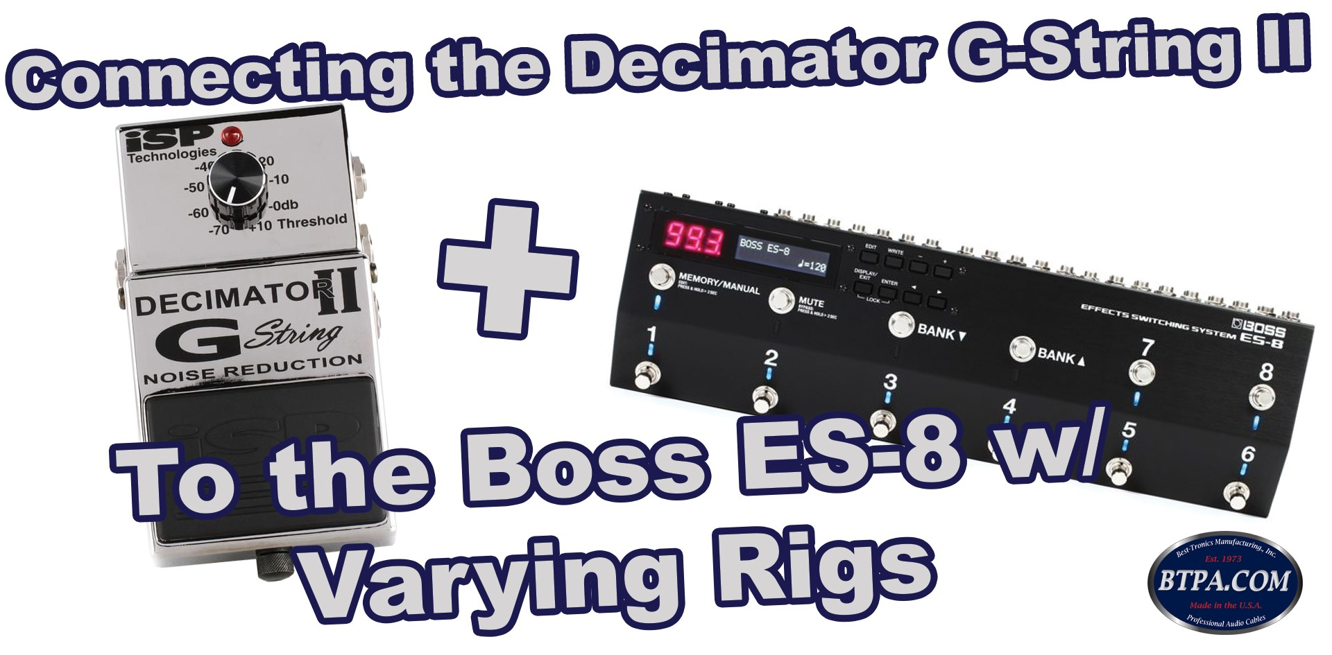 Using an ES-8 and Decimator G-String II