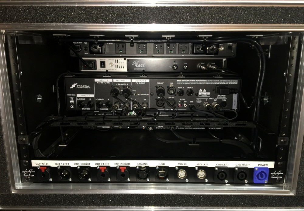 Axe-FX Direct Rig with Matrix PA Rear