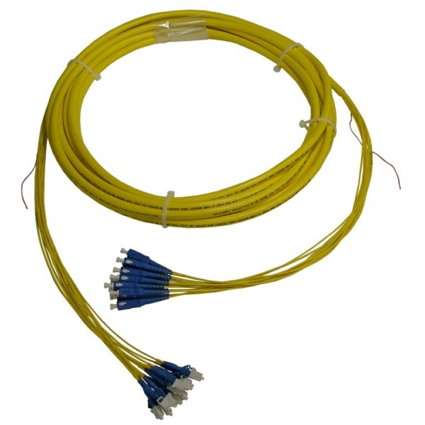 SM LC-SC 12 Fiber Riser Breakout Cable with 2.0mm Subunits